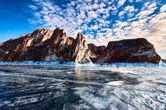 Baikal Lake in winter royalty free stock image