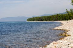 baikal lakeside obrazy royalty free