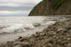 Baikal lakeside. Western shore of Lake Baikal Stock Image