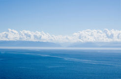 The Baikal landscape with clouds Stock Photography