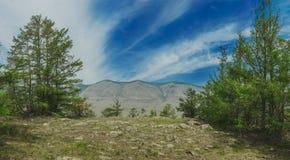 Baikal landscape panorama siberia travel. Baikal landscape panorama sarma siberia summer tourism stock photo