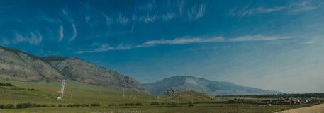 Baikal-Landschaftspanorama-Sibirien-Reise stockbild
