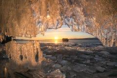 baikal marznący jezioro zdjęcie royalty free