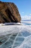 Baikal nell'inverno fotografie stock