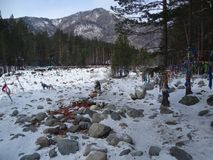 Baikal nell'inverno Posti misteriosi Immagine Stock