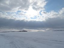 Baikal nell'inverno Posti misteriosi Immagine Stock Libera da Diritti