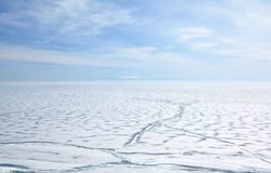 Baikal no inverno Foto de Stock Royalty Free