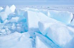 Baikal no inverno Foto de Stock