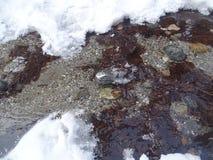 Baikal no inverno Lugares misteriosos Fotografia de Stock Royalty Free