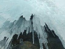 Baikal no inverno Lugares misteriosos Fotografia de Stock