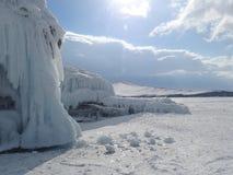 Baikal no inverno Lugares misteriosos Imagem de Stock