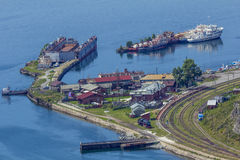 Baikal port Russia Royalty Free Stock Photography