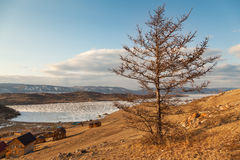 Baikal, Small sea ice crossing Stock Image