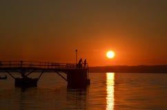 Baikal-Sonnenuntergang Lizenzfreies Stockbild