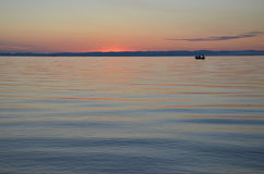 Baikal-Sonnenuntergang Stockfoto
