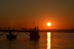 Baikal sunset Royalty Free Stock Image