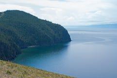 Baikal, vue de cap Khoboy Photo stock