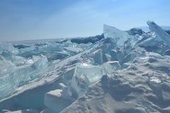 Baikal w zimie Baikal natura i lód Luty 2018 Fotografia Stock