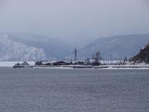 Baikal w zimie Tajemniczy miejsca zdjęcie stock