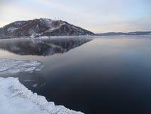 Baikal w zimie Tajemniczy miejsca fotografia royalty free
