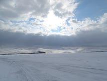 Baikal w zimie Tajemniczy miejsca obraz royalty free