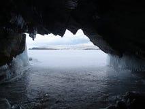 Baikal w zimie Tajemniczy miejsca zdjęcie royalty free
