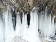 Baikal w zimie Tajemniczy miejsca zdjęcia royalty free