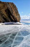Baikal in winter Stock Photos