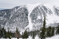 Baikal winter mountains Royalty Free Stock Photo