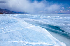 Baikal in winter Stock Photography