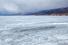 Baikal in winter Royalty Free Stock Images