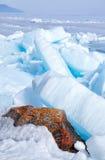 Baikal in winter Royalty Free Stock Photo