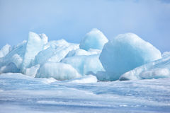 Baikal in winter Royalty Free Stock Image