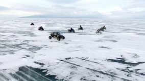 Baikal-Winterrennen stock video footage