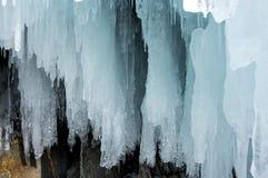 baikal zima lodowa jeziorna roztapiająca obraz royalty free
