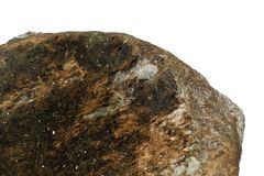 Baikalite mineral isolated Royalty Free Stock Image