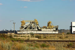 Baikonur Kazakhstan Cosmodrome. Installation of a platform for the launch of space rockets Royalty Free Stock Image