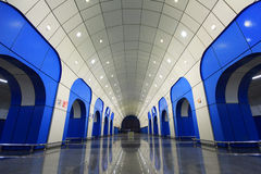 Baikonurmetro Post in Alma Ata, Kazachstan royalty-vrije stock foto