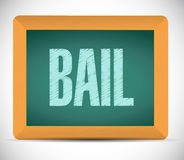 Bail board sign illustration design Stock Images