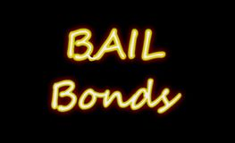Bail bond sign on black Royalty Free Stock Image