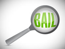 Bail magnify search illustration design Stock Photography