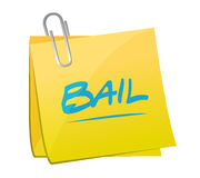 Bail memo post illustration design Royalty Free Stock Photography
