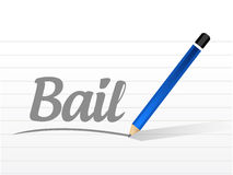 Bail message sign illustration design Royalty Free Stock Photography