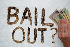 Bail Out. stock images