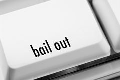 Bail out key. On computer keyboard stock images