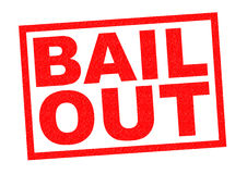 BAIL OUT. Red Rubber Stamp over a white background royalty free stock images