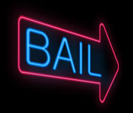 Bail sign. Stock Image