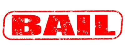 Bail stamp on white background Stock Image