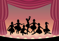 Bailado 1 ilustração royalty free