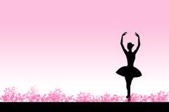 Bailado cor-de-rosa Fotografia de Stock